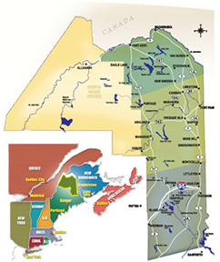 Maines Aroostook County - Maine county map